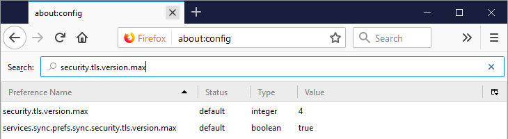 How do I fix the Secure Connection Failed error in Mozilla Firefox - SEARCHING FOR THE SETTING