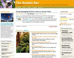 The Bumble Bee - Ken Thompson's shared know-how on team dynamics, virtual collaboration, emerging technology and bioteaming