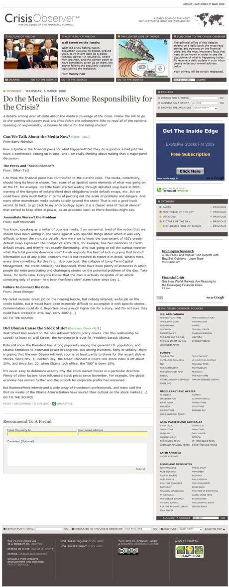 CrisisObserver.com Individual Article