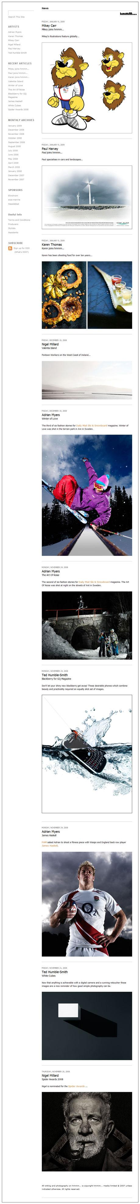 hmmm... news main page