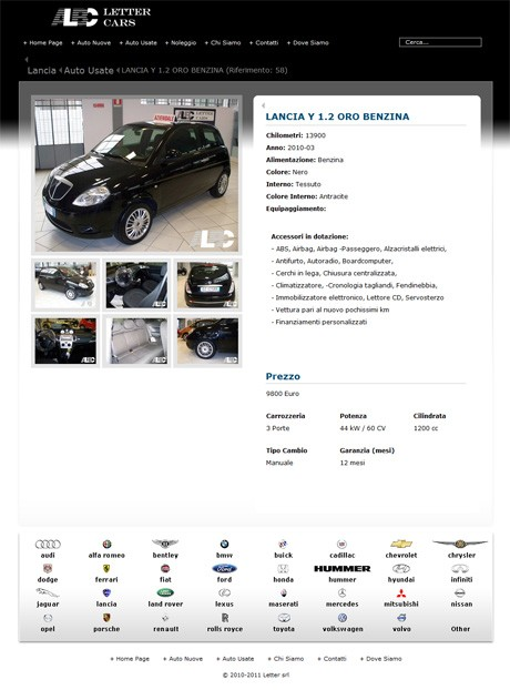 LetterCars.it Car Listing Page