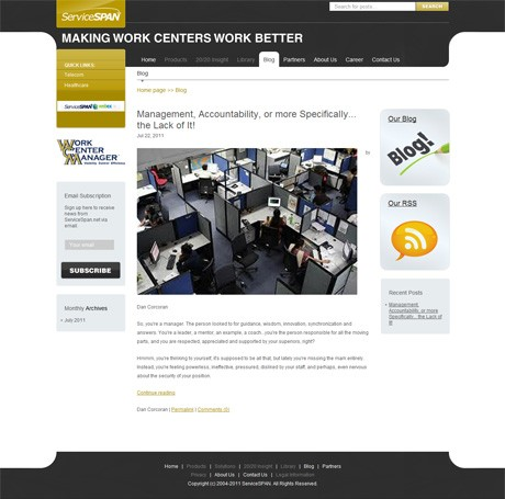 ServiceSPAN.net Blog Main Page