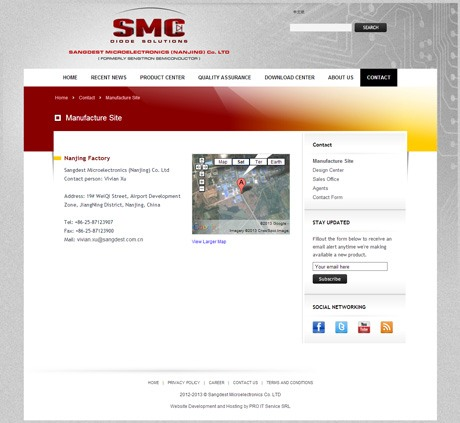 SMC Diodes - English Contact Page