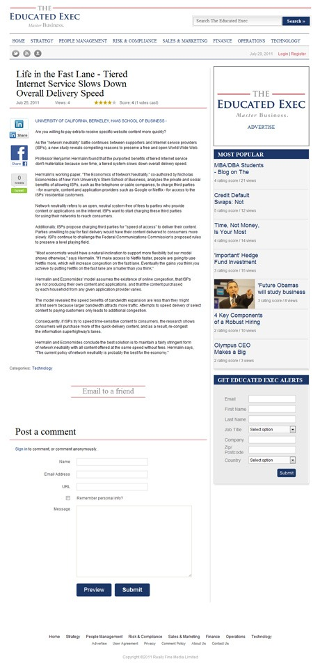 The Educated Exec News Individual Article Page