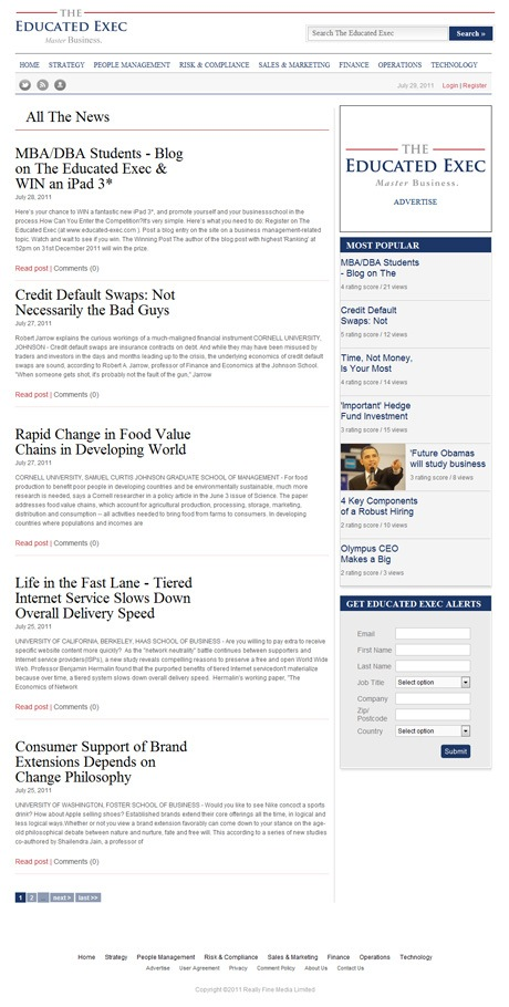 The Educated Exec News Main Page