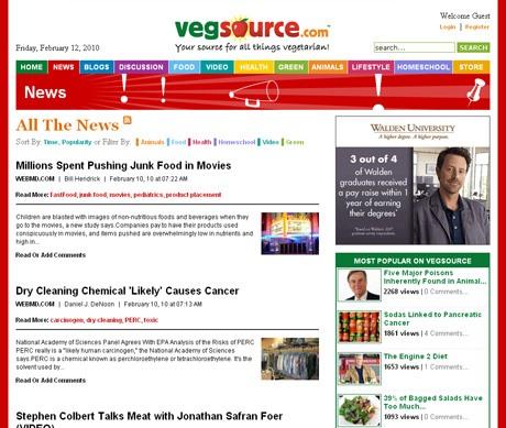 VegSource.com News